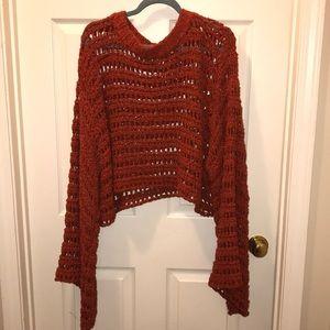 Free People cutout sweater